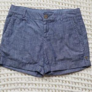 Banana Republic sz 4 chambray shorts blue summer